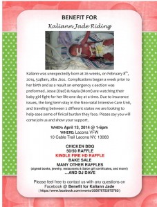 Kaliann Benefit Flyer